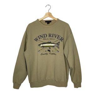 Vintage 90s Windriver Sweater Atlantic Salmon Fish